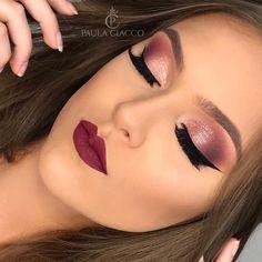 67 Ideas For Makeup Eyeshadow Tutorial Night Motives Makeup, Eyebrow Makeup Tips, Eyeshadow Makeup, Red Hair Makeup, Wedding Hair And Makeup, Bridal Makeup, Simple Prom Makeup, Casual Makeup, Evening Makeup