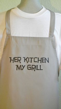 BBQ Aprons For Men Funny Aprons For Men Humorous by SELECTAPRONS, $15.00