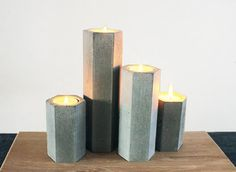 Chrome and Concrete Candle Sets - Two Icelandic designers explore a similar silhouette in different mediums