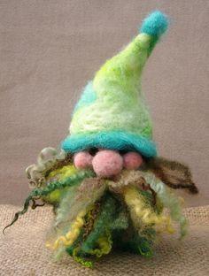 Needle-felted gnome More #needlefelted