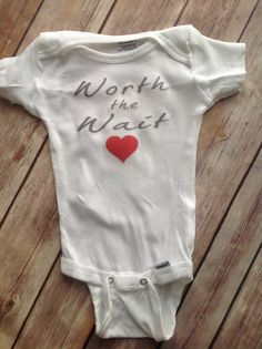 Worth the Wait Onesie (Custom Colors/Wording) baby newborn toddler custom made onesie funny humor cute trendy girl boy baby shower gift hospital coming home outfit new baby bodysuit love heart