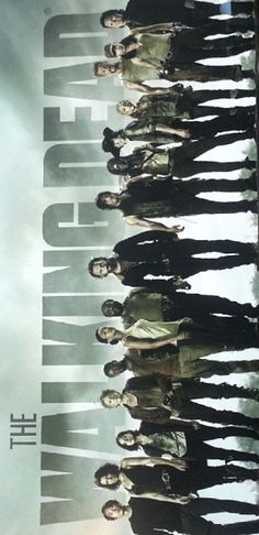 The Walking Dead Comicon 2014 Norman Reedus Andrew Lincoln Full Cast Banner TWD