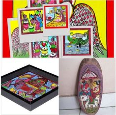 Hand made & painted Wall panels, Key holders, Trays with pattachitra paintings from Bengal Mail us at bengalcraftmart@gmail.com