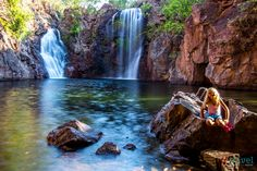 Florence Falls at Litchfield National Park in the Northern Territory of Australia Australia Travel, Western Australia, Litchfield Illinois, Litchfield National Park, Caravan Hire, Darwin, Travel Destinations, Things To Do, Bon Voyage
