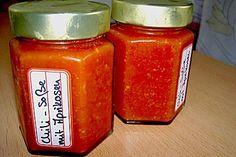 Scharfe Chili - Soße mit Aprikosen, ein raffiniertes Rezept aus der Kategorie Herbst. Bewertungen: 33. Durchschnitt: Ø 4,3.