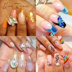✨ By: @nunis_nails ---------------------------------------------------------- #nails #nail #notd #style #hudabeauty #cute #beauty #beautiful #instagood #pretty #girl #girls #stylish #sparkles #styles #gliter #nailart #opi  #essie #unhas #preto #branco #rosa #love #shiny #polish #nailpolish #nailswag #anastasiabeverlyhills #vegas_nay