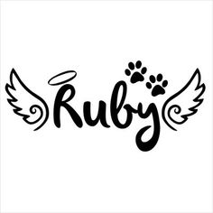 Pet Angel ~ Style 2 Celebration of Life Memorial Vinyl Die-Cut Decal -------------------------------------- Dog Tattoos, Cat Tattoo, Animal Tattoos, Body Art Tattoos, Print Tattoos, Girl Tattoos, Pet Memory Tattoos, Dog Memorial Tattoos, Pet Remembrance