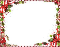 Christmas PNG Photo Frame with Candy Canes | Christmas Printables ...
