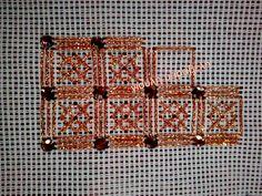 Εύκολο και όμορφο σχέδιο για αρχάριες κεντήστρες.Αφού κεντηθεί η κλωστή,κατόπιν ράβουμε τις πετρούλες όπως τα κουμπάκια.Τηλ:22210 74152