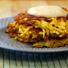 Butternut Squash Latkes with Sriracha Aioli Recipe on Yummly. @yummly #recipe