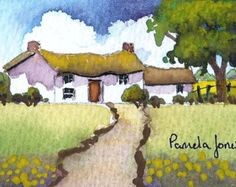 ACEO, Original Watercolour, Country Cottage, Miniature Painting, 3.5ins x 2.5ins, Mothers Day, Gift Idea, Art and Collectables An ACEO Original Watercolour Size 3.5 ins x 2.5 ins Aceos are highly collectable Affordable pieces of art for small price Can be collected in albums, or framed Comes with protective sleeve Will make a great Gift....or why not start your own miniature art collection...A great way to collect Art! For more ACEO original watercolours....click link below https:/&#...