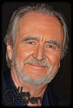 Wes Craven http://batiesphotography.com #horror #movies #digitalart