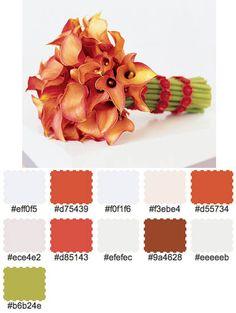 mango calla lillies
