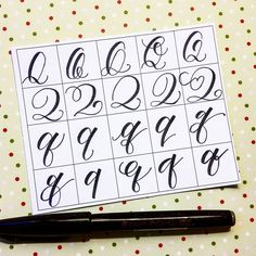 20 ways to write the letter Q by @letteritwrite • see also the video of her writing the letters