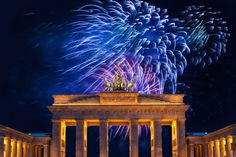 New Year's Eve fireworks over the Brandenburg Gate, Berlin. Photo by iStock