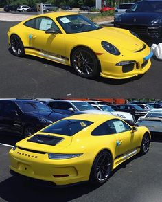 The first known Racing Yellow 911 R for North America has landed at Porsche Exchange near Chicago, Illinois! No info on build number. The amber reflectors must go! : @porscheexchange | Follow @club911r for the latest on the newest Porsche 911 R's. Club911R is the first and most complete registry of Porsche 911 R's. If you have any info on a 911 R, please contact via DM. Online registry to launch soon.