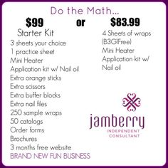 You do the math? If Jamberry Nails ADDS UP for you!! Join my team at https://tarawhorton.jamberry.com/join
