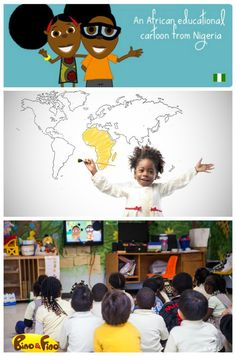 Watch the newest African kids on TV: Nigerian cartoon Bino and Fino! This fabulous new series for ages teaches all about modern Africa in a fun way! African Culture, African History, Educational Activities, Activities For Kids, Multicultural Activities, Student Centered Learning, Geography For Kids, Learning A Second Language, African Children