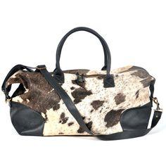 gorgeous cowhide weekend bags