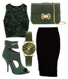 """Green envy"" by jayejaye2 on Polyvore featuring Max Studio, Opening Ceremony, Viereck, Henry London and Monique Lhuillier"