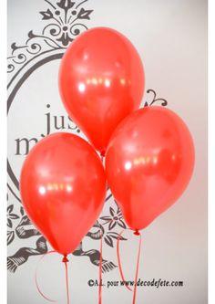 8 ballons rouge nacré - 1,95