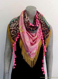 Gypsy Ibiza Triangle Shawl Pink  by Dazzling by DazzlingGypsyQueen, €39.95