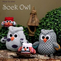 How to sew a sock owl