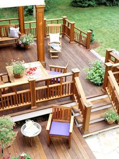 We're rebuilding our deck next summer and this article has beautiful decks and good tips.