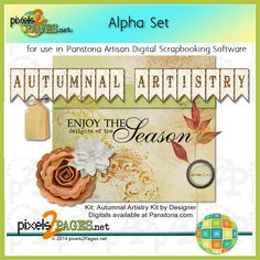 Learn how to use alphasets for Digital Scrapbooking Layouts from - Scrapbook Software, Digital Scrapbooking Layouts, Artisan, Typography, Place Card Holders, Learning, Create, Artwork, Blog
