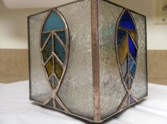 Fish Stained Glass Candle Holder by TheMosaicMind on Etsy, $185.00