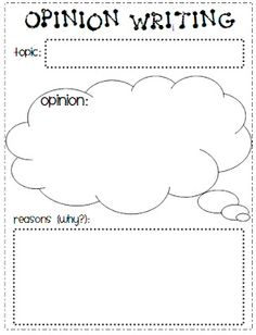 Teacher Time Savers: Opinion (Persuasive) Writing Graphic Organizer