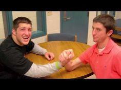 Tim Tebow Arm Wrestles!!