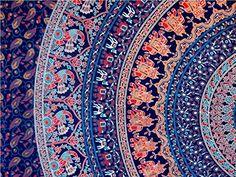 Jaipuri Art And Creations Hippie Indian Tapestry Elephant Mandala Throw Wall Hanging Boho Bedspread Ethnic Jaipuri Art And Creations http://www.amazon.com/dp/B00ZUN2EOC/ref=cm_sw_r_pi_dp_FfInwb1YGJT8Y