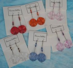 acrylic drop and dangle earrings with your selection color/ clear color earrings/ round earrings by ommiesukkho on Etsy
