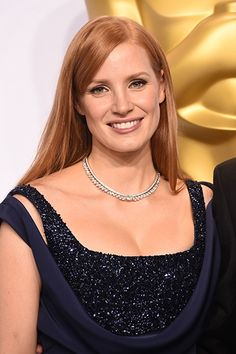 Jessica Chastain in an Extremely Piaget high jewellry necklace