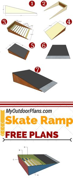 Build a simple skate ramp for fun in the backyard or in the park lot. Step by st. - Home Decorations Ideas Mini Skate, Skate Ramp, Finger Skateboard, Skateboard Ramps, Skateboard Party, Tech Deck, Woodworking Plans, Woodworking Projects, Diy Projects
