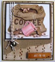 oh my stars how cute and i dont like cofee, lol coffee card by Margreet