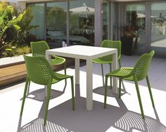 Outdoor Patio With Modern Plastic Furniture