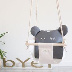 Byel teddy baby indoor swing with eyelashes. Nursery fun