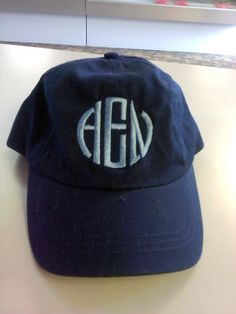 Monogrammed Baseball Cap by CheerMomDesigns on Etsy, $11.99 so cute!