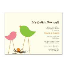 Bare Nest: Vanilla Baby Shower Invitations