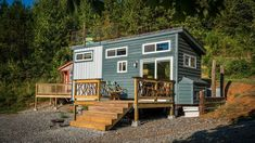 Live a Little Chatt. offers several unique and charming tiny homes for rent in the Chattanooga, Tennessee area. One even has a hidden hobbit door.