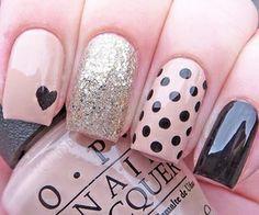 OPI, pretty girly nail art design, basic neutral style, apt for DIY
