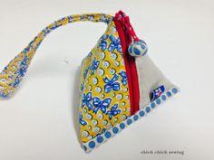 chick chick sewing: Zakka Pattern Overview: Pyramid Zipper Pouch and Sachet ☆ オリジナル雑貨パターンより 「三角ポーチとサシェ」