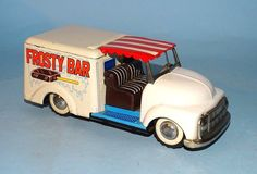 FROSTY BAR TRUCK WITH BELL TIN FRICTION TOY ORIGINAL BOX YONEYA JAPAN | eBay