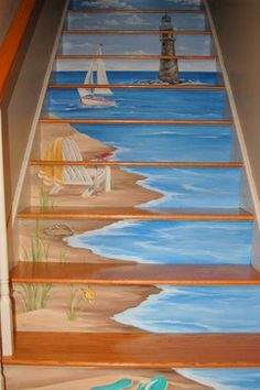 Eclectic Home painted stairs Design Ideas, Pictures, Remodel and Decor