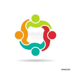 Team 4 council.Concept group of people logo