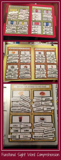 A bundle of 3 products focusing on reading comprehension with functional words for community signs, groceries and restaurants.  Materials can be made into file folders or task cards or flip flaps.  Great for #autism #lifeskills classrooms  $7.50