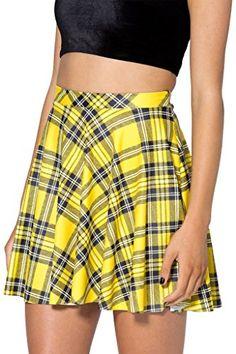 Women's Flared Stretch Soft Tartan Yellow Print Pleated Mini Dress Skater Skirt S ElaineAccessories http://www.amazon.com/dp/B00LJMQ88Q/ref=cm_sw_r_pi_dp_.GKfub0AGKH6Y
