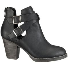 Briana Buckle bootie ($44) ❤ liked on Polyvore featuring shoes, boots, ankle booties, maurices, bootie boots, buckle ankle booties, buckle bootie, short boots and wide ankle boots